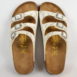 Birkenstock Shoes - Birkenstock Papillio 3-Strap Sandal White Floral